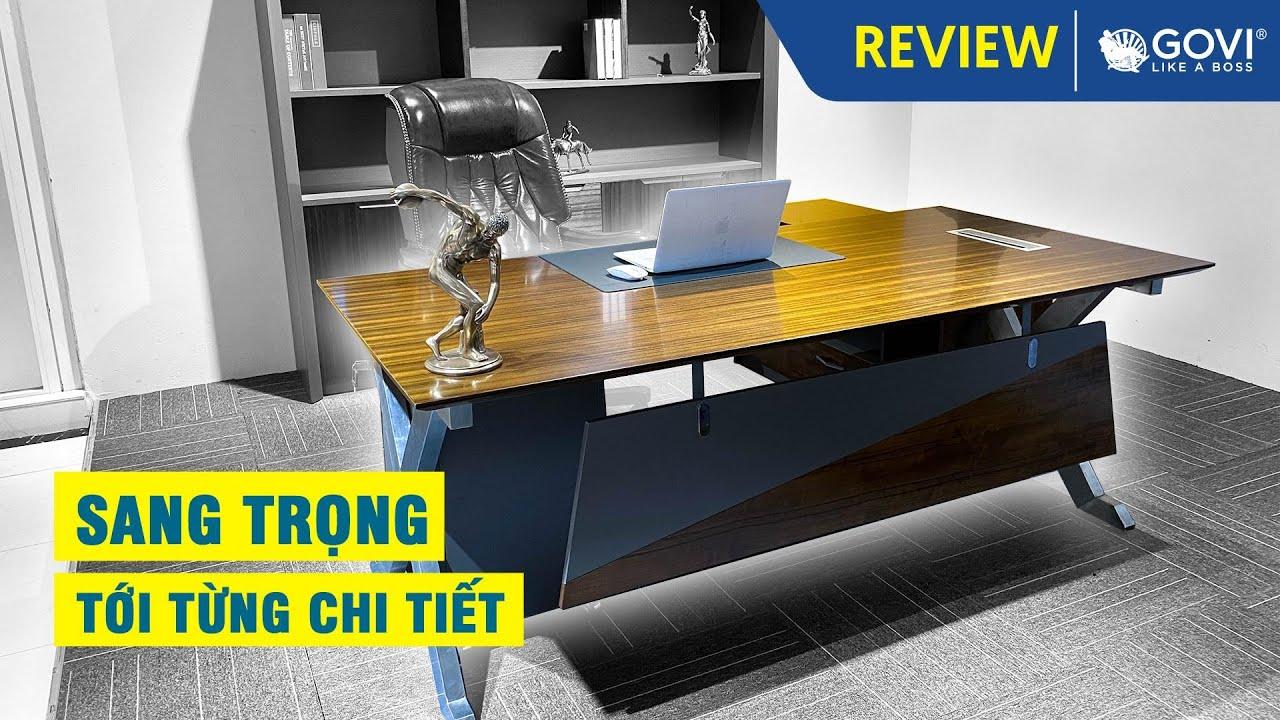Mẫu bàn tủ lãnh đạo cao cấp sang trọng | Bàn tủ giám đốc hiện đại | Govi Furniture