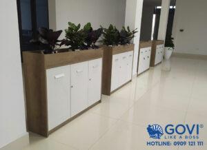 Hoàn thiện lắp đặt nội thất văn phòng tại Hải Dương thực hiện bởi Govi Furniture