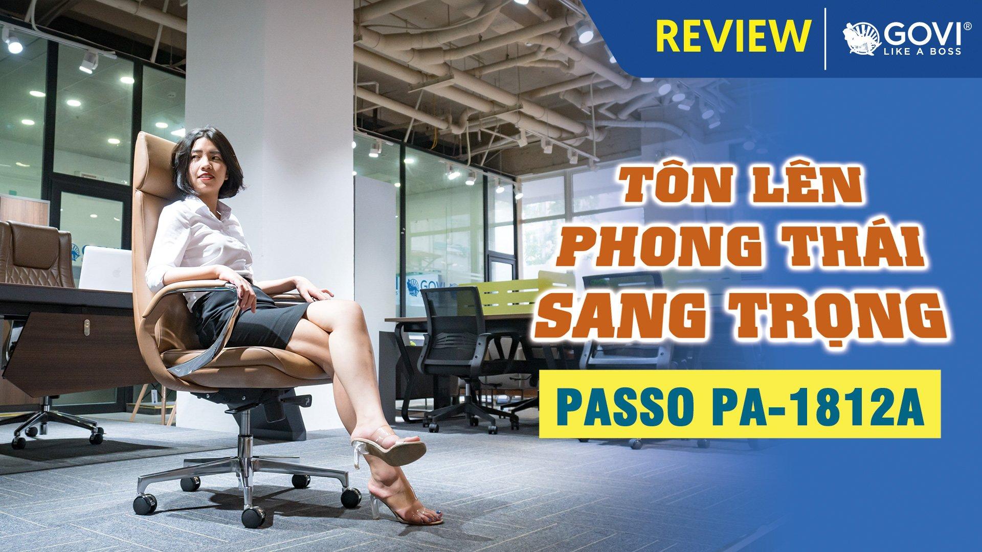 Ghế Lãnh Đạo Da Bò Passo PA-1812A – Tôn Lên Phong Thái Sang Trọng