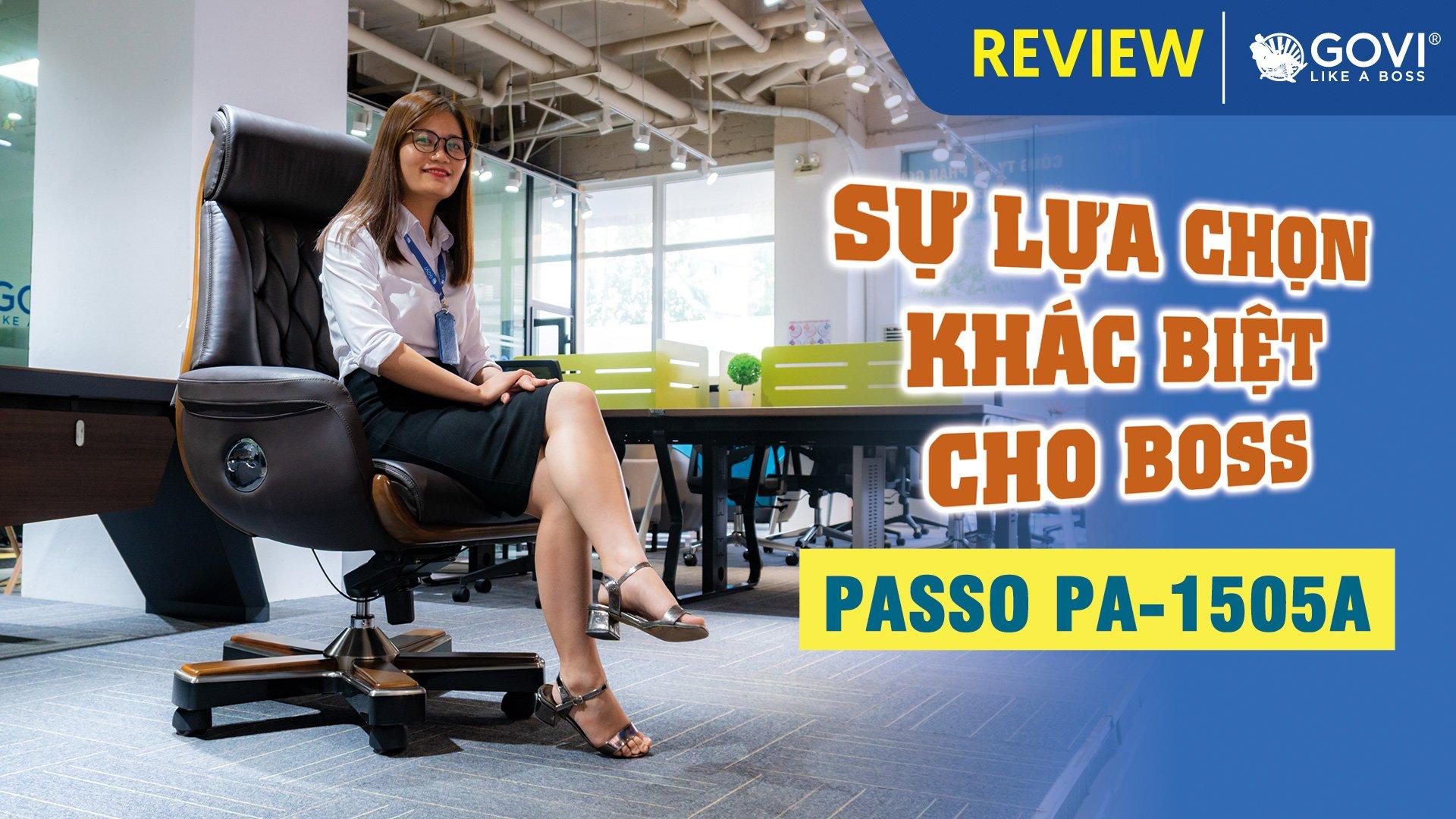 Ghế Lãnh Đạo Da Bò Passo PA-1505A – Sự Lựa Chọn Khác Biệt