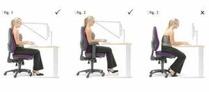 Tư thế đạt chuẩn khi sử dụng ghế ngồi văn phòng