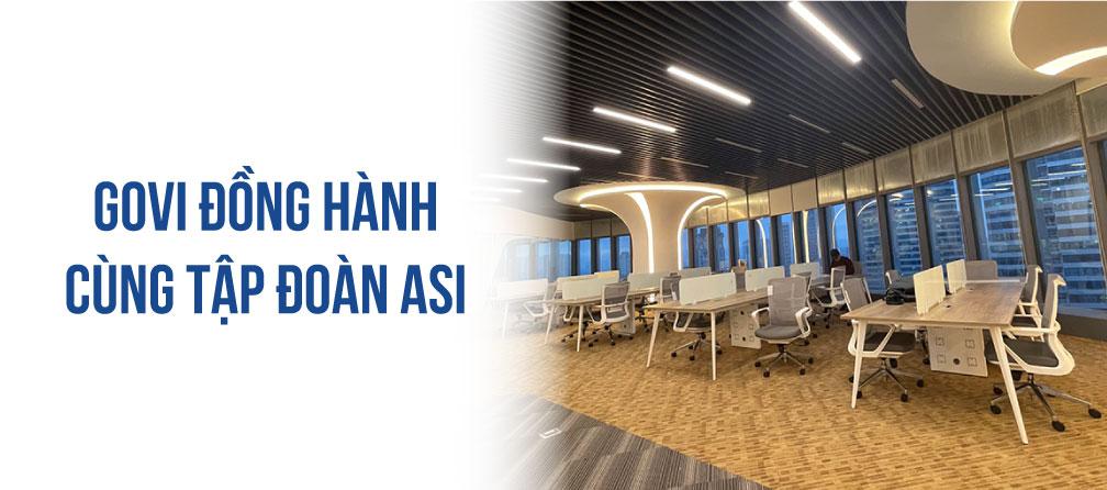Govi Furniture hoàn thiện lắp đặt dự án nội thất văn phòng cho tập đoàn ASI