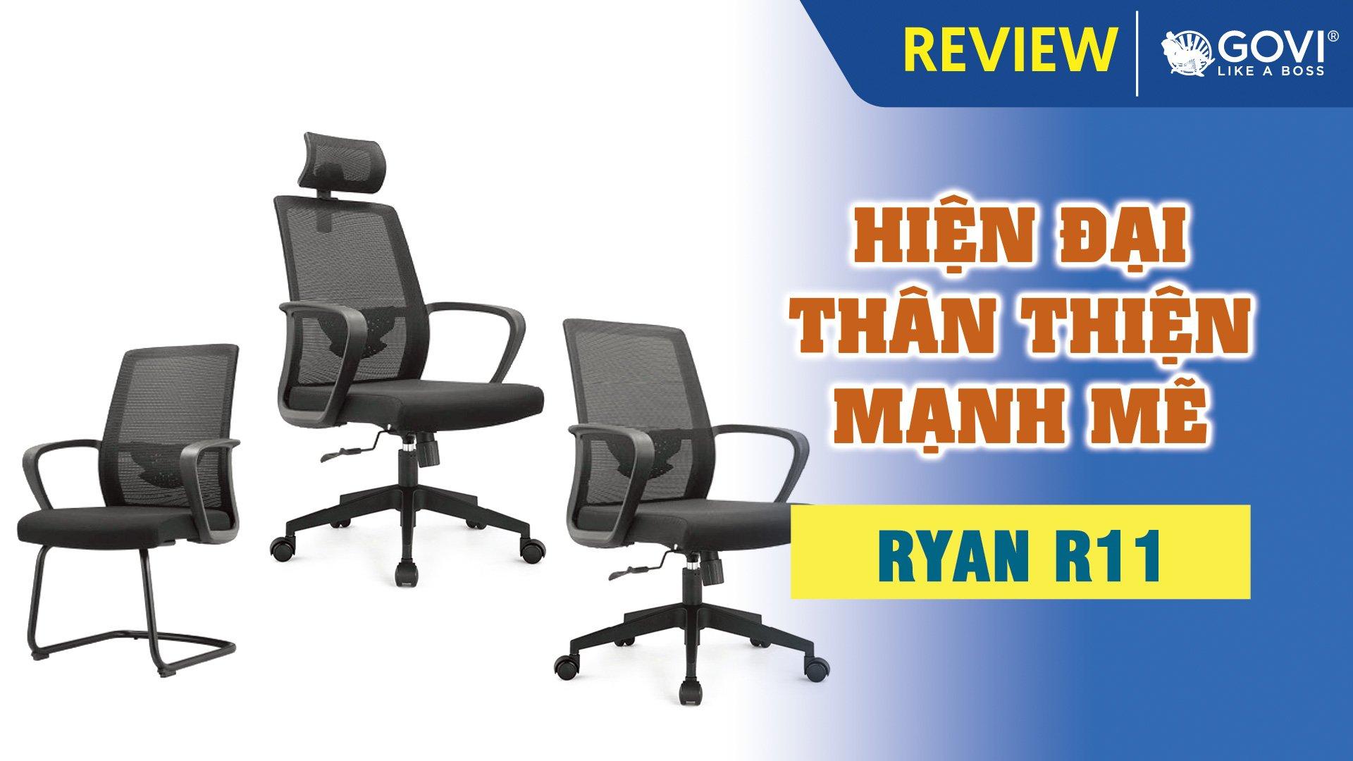 Combo Ghế Văn Phòng Ryan R11 – Hiện Đại, Thân Thiện, Mạnh Mẽ