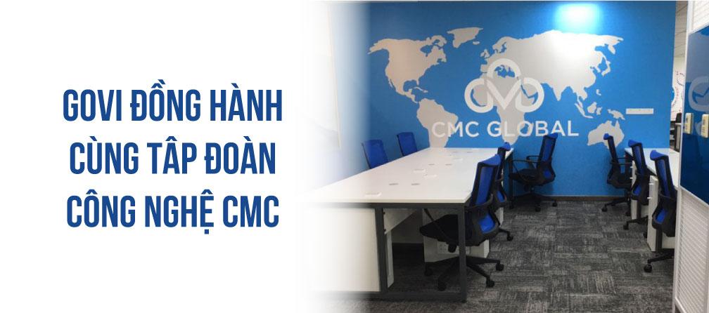 Govi cung cấp toàn bộ nội thất văn phòng cho tập đoàn công nghệ CMC