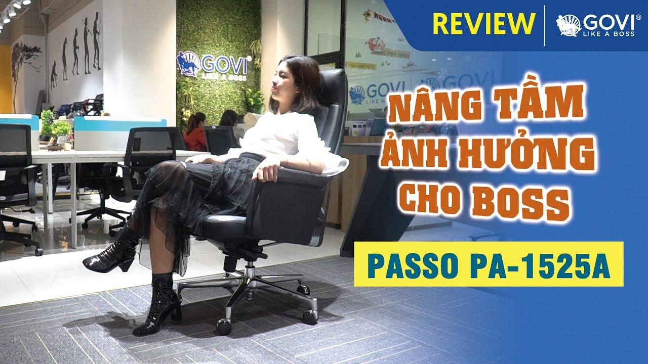 Ghế Lãnh Đạo Da Bò Italy PASSO PA-1525A – Nâng Tầm Ảnh Hưởng Cho Boss